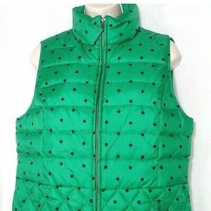 Talbots Vest Bomber Quilted Down